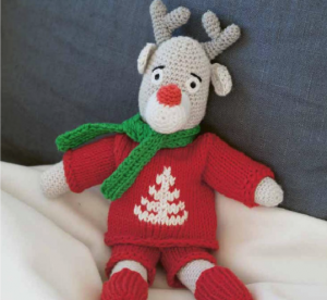 Rudolf som strikket julegave tips.