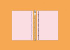 To avlange stoffbiter, illustrert.