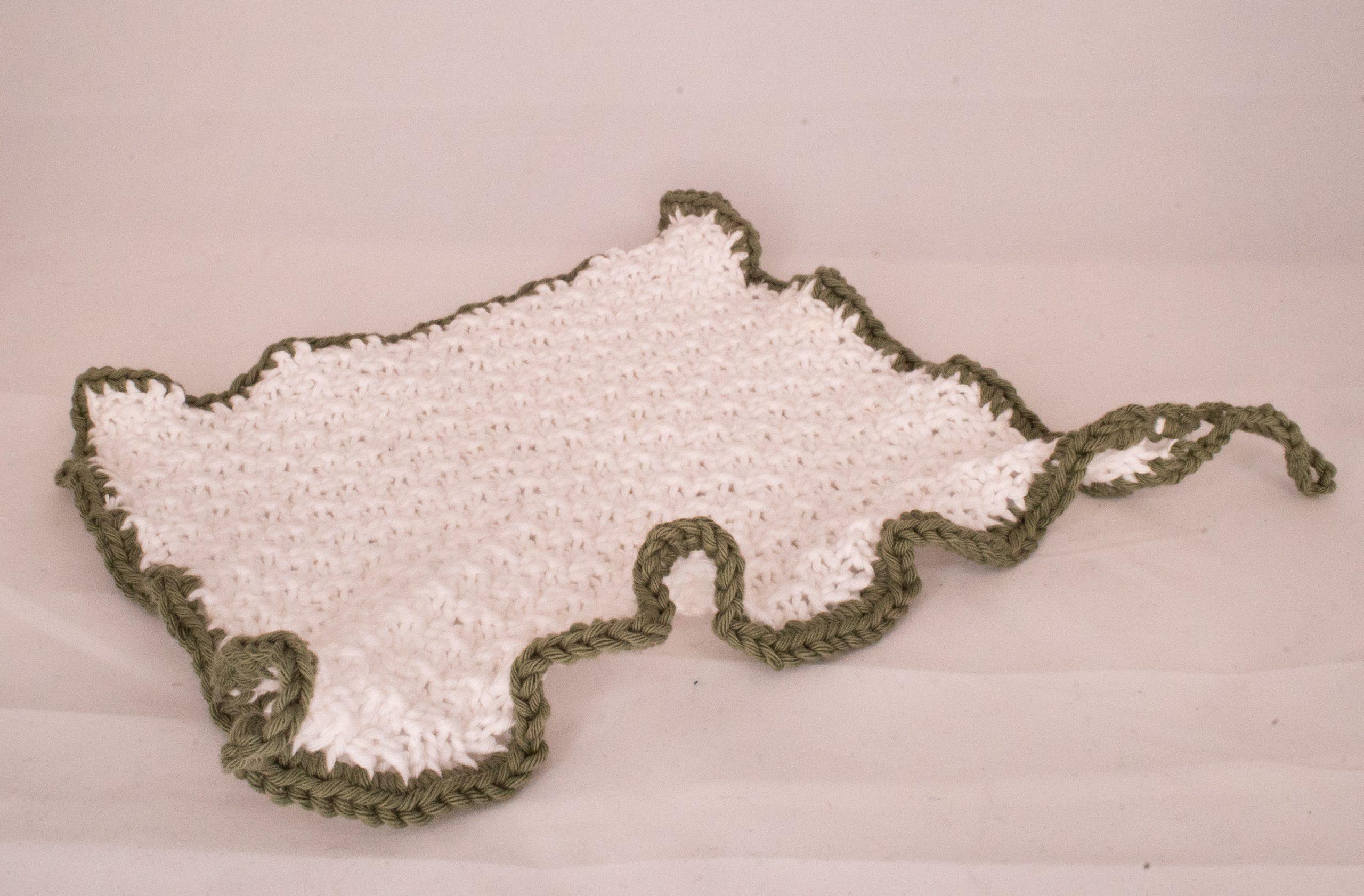 Klut strikket i dobbel perlestrikk