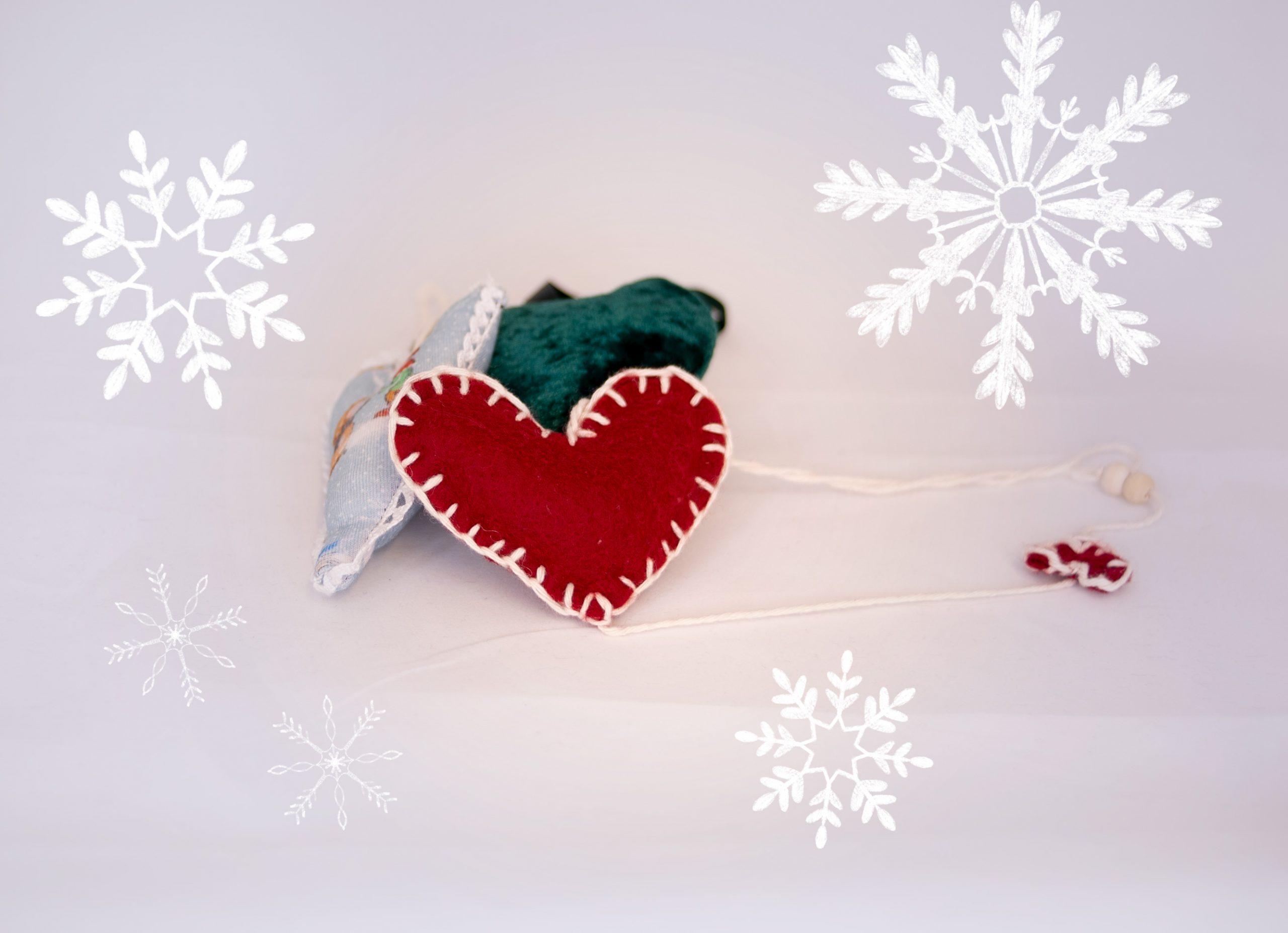Sy dine egne julehjerter til julepynten!