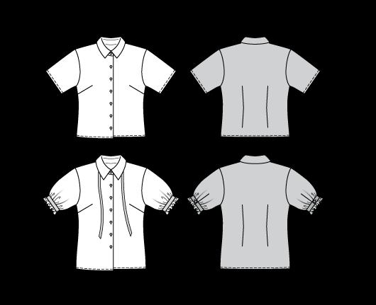 Tekniske tegninger av mønsteret