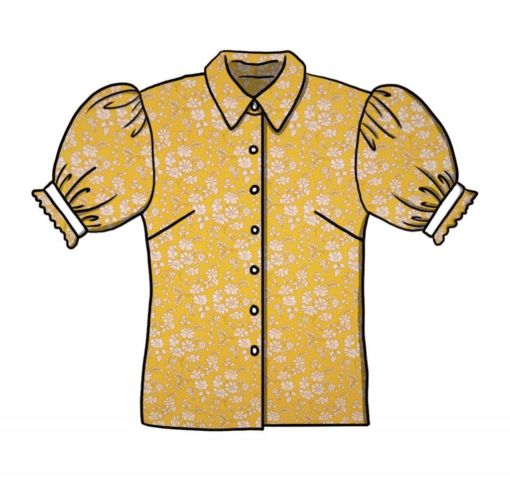 Skisse av skjorten