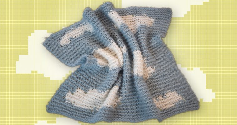 Slik strikker du et enkelt babyteppe – Strikkeoppskrift for nybegynner