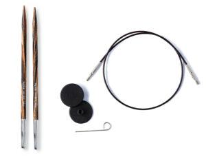 Utskiftbare pinner, anbefalte strikkepinner til rundstrikk